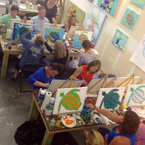 Sea Turtle Paint and Play Party