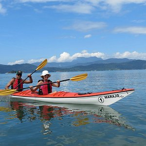 Kayaking in the bay of Paraty