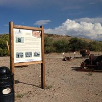 "Some of the historic artifacts in the ""boneyard"" along Silver Nugget Trail"