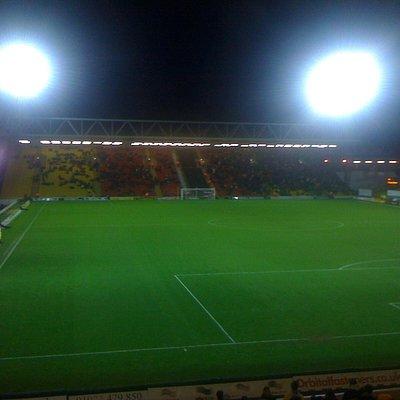 Floodlights on for an evening match