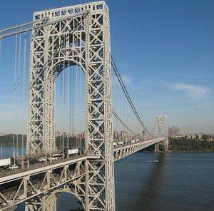 George Washington Bridge, view from Fort Lee,New Jersey toward the Manhattan