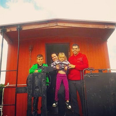 Family enjoying a visit at the Marine and Rail Museum