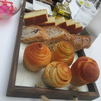 Selection of homemade breads