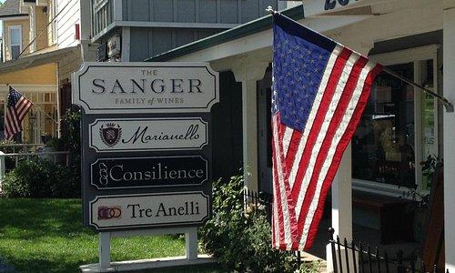 New Sanger Family Sign
