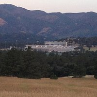 View of USAFA Falcon Stadium from the trail