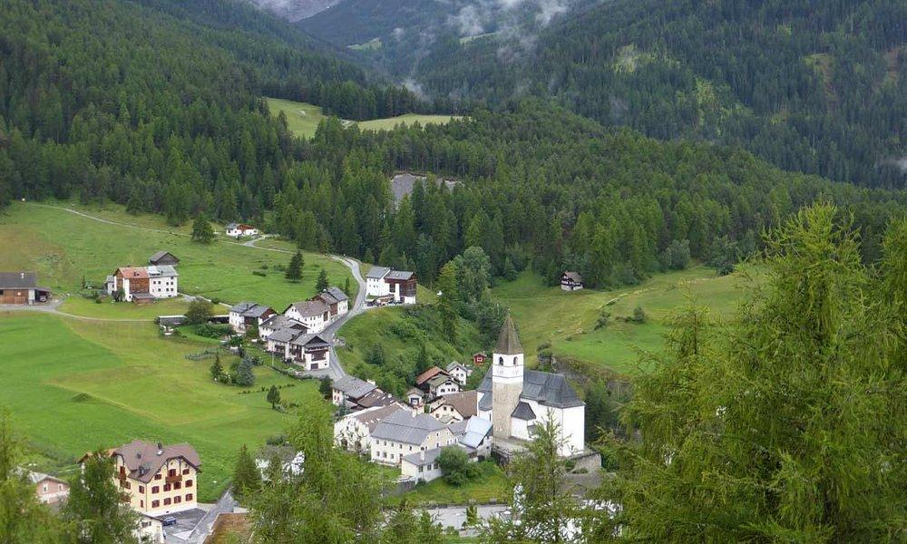 Hübsch gelegen - der untere Ortsteil des gleichnamigen Dorfes