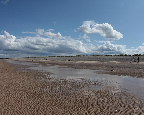Sunny day at Findhorn Beach