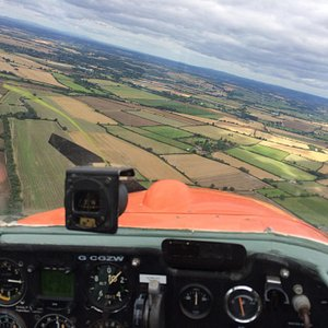 Gliding back to the airfield