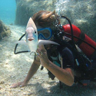 * i pesci che guizzano intorno a te  son motivo di prolungata permanenza nel loro mondo!!!
