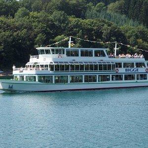MS Bigge: eines der beiden Fahrgastschiffe