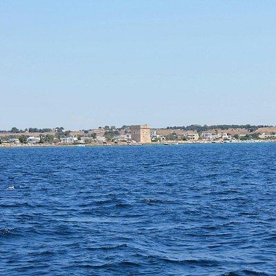 View of the coast of Porto Cesareo