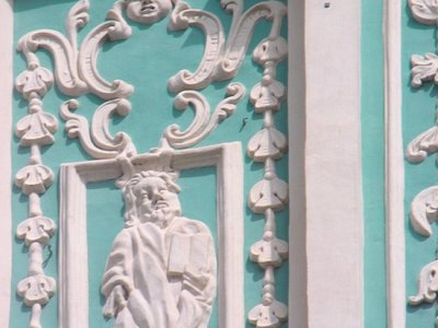 The stucco molding design by Ivan and Stephan Sobinsky