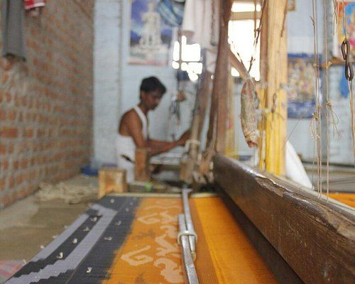 Weaver at work @pochampalli ... As regards we paid them 100 each for allowing us take photos and