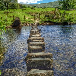 Stepping stones near Loughrigg