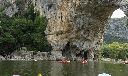 Just after the main rapid heading to the Pont D'Arc