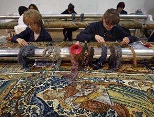 Artisans at work, restoration