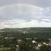 Ausblick mit Regenbogen