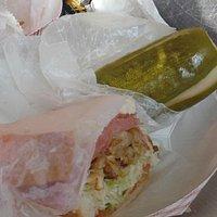 The Capicola choice & pickle - YUM!