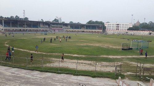 Chaudhary at stadium