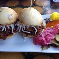 Pulled pork sliders - recommended by our server and our favorite dish of the night!