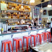 Bar seating area, Cowbells New Orleans