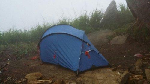 Camping at summit