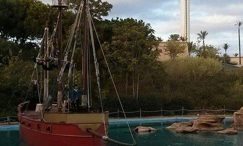 Espectáculo de los Piratas del Caribe.
