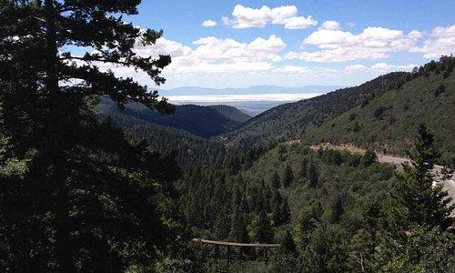 Top of OSHA Trail overlooking the Tularosa Basin
