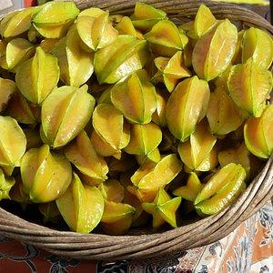 Star Fruit at Upcountry Maui Farmer's Market, Alden Cornell Molokai Hawaii