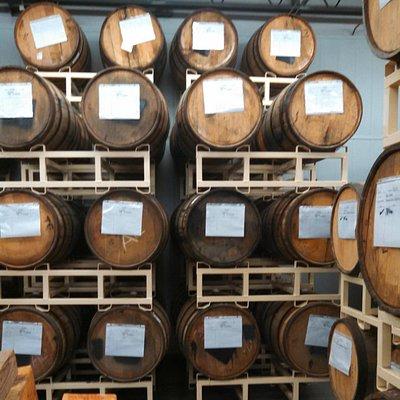 Barrel aging some beers.