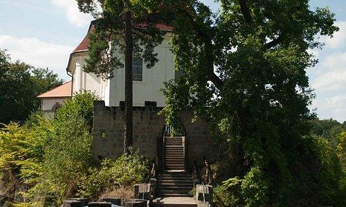Замок Вальдштейн, вид с террасы