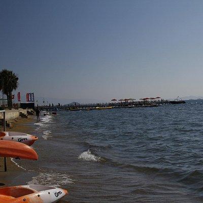 Looking along the Kadikale beach front