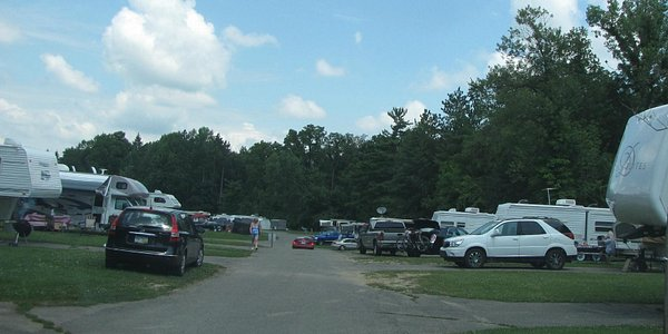 Very crowded camping