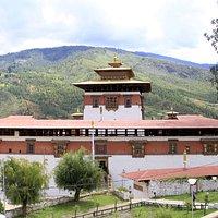 Paro Dzong upper entrance.