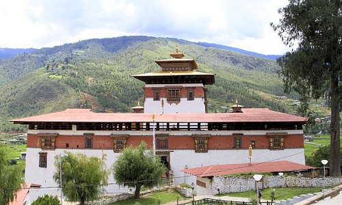 Paro Dzong upper entrance.