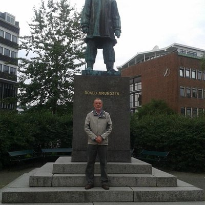 The great polar hero Roald Admundsen: his name features prominently all over Tromso