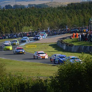 Touring Cars stream out of Clark