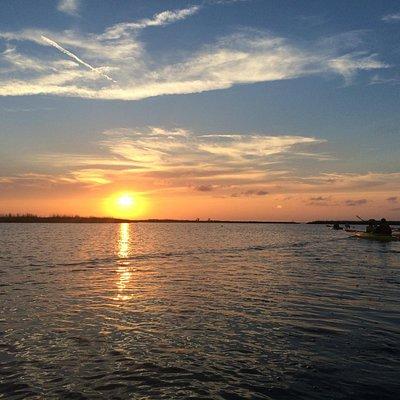 Beautiful sunset tour in Corolla
