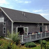 The winery building and deck