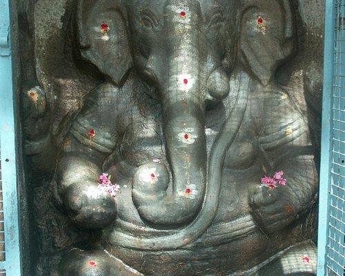 shivan temple rock cut statue