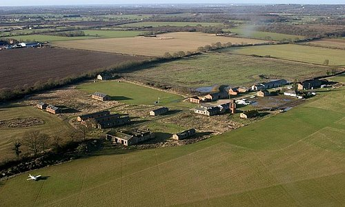 Aerial photograph of site under restoration
