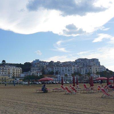Panorama dalla spiaggia