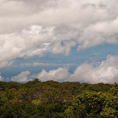 Niihau as Seen through the Clouds from Kauai