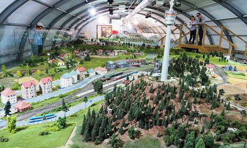 Part of the model train layout