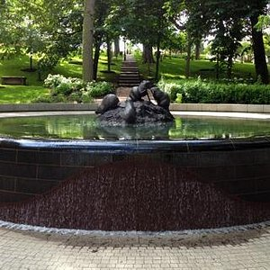 Nice fountain on the grounds