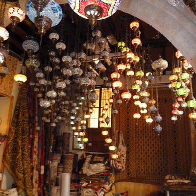 beautiful hanging handmade lamps.
