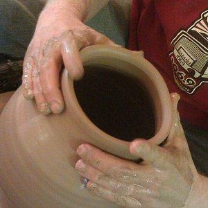 Pottery in progress at The Maverick Potter