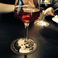 Vin rosé au fraises