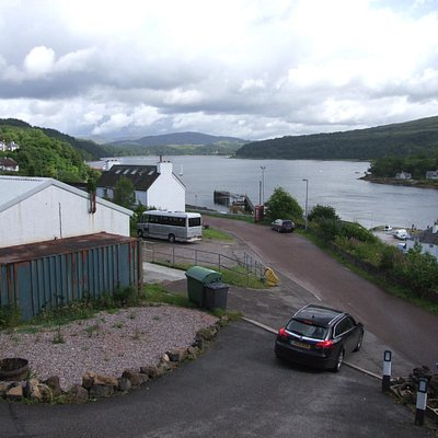 View from the cabins over Loch Aline