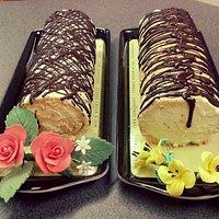 Delicious creamy cakes